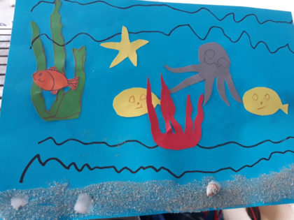 Морско дъно с мидички
